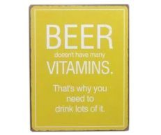 Decoratiune de perete Beer Doesn't Have Vitamins Vitamins, Beer, Calm, Drinks, Crafts, Root Beer, Drinking, Ale, Beverages