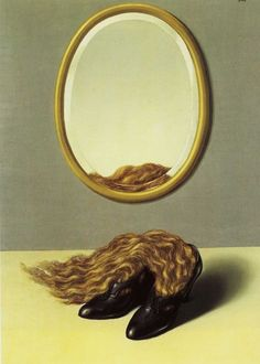 René Magritte (Belgian, 1898-1967), L'amour désarmé [Love disarmed], 1935.