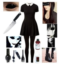 A fashion look from October 2015 featuring Cameo Rose dresses, Graftobian costumes and JY Shoes ankle booties. Browse and shop related looks. Cute Emo Outfits, Punk Outfits, Outfits For Teens, Girl Outfits, Fashion Outfits, Fashion Boots, Casual Cosplay, Cosplay Outfits, Cosplay Costumes