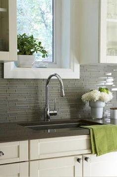 Beautiful gray skinny tile.