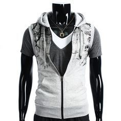 Vest Paris (Grå) - Rockdenim - $499nok Vests, Hooded Jacket, Athletic, Paris, Jackets, Fashion, Jacket With Hoodie, Down Jackets, Moda