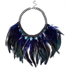 Green Premium Jewelled Feather Necklace ($13) ❤ liked on Polyvore featuring jewelry, necklaces, accessories, jewels, green necklace, jeweled necklace, jewels jewelry, chunky chain necklace and green jewelry