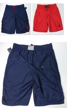 8ee2d7d240 Swimwear 51919: Polo Ralph Lauren Boys Size 8 Swim Boxer Trunks Kids Small Swimwear  New -> BUY IT NOW ONLY: $39 on eBay!