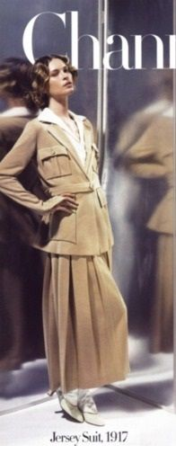 1917 - Chanel jersey suit - Photo by Karl Lagerfeld for HarpersBazaar 2006