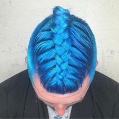 blue hair color for men