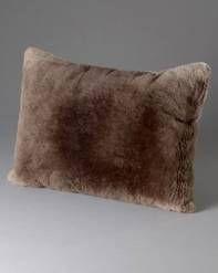 Full Pelt Sheared Beaver Fur Pillow