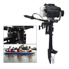 Updated 4HP Outboard Boat Engine Boat Motor 52cc 4 Stroke Air Cooling System US! #Unbranded