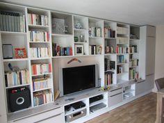bibliothèque sur mesure mobilier d'intérieur meuble télé