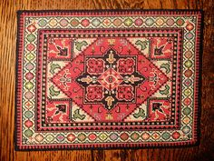 "Artisan Mirco Petit Point Rug Dollhouse Miniature Approx 6"" x 4"""