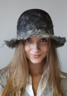 Felted gray hat reserved for Crystal