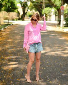 pink - look do dia - lili paiva - grávida - keep a secret blog