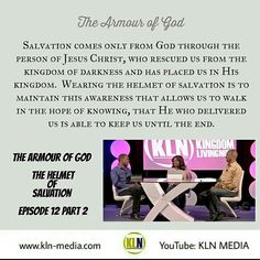 Kingdom Living Now  Today we published in our Armour of God series, The Helmet of Salvation - Part 2. Tune in now, to our YouTube channel:KLN MEDIA.  Here is the link: https://youtu.be/Cq14LEeW2ho  Kingdom of Heaven Embassy Ministries 1210 Midway Blvd, Units 17-18,  Mississauga ON L5T 4B8 Canada Telephone :905-696-8686  #kingdomlivingnow #Christ #KingdomofGod #ephesians6 #Truth #armour #HolySpirit #khemchurch #faith #instagrammers #socialmedia #beautiful #Jesus #bible #igdaily #canada #usa…