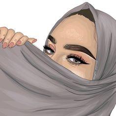 Girly Drawings, Cartoon Drawings, Art Drawings, Girl Cartoon, Cartoon Art, Tmblr Girl, Sarra Art, Hijab Drawing, Girly M