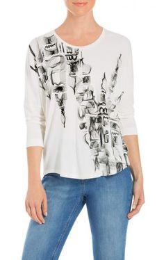 ESCADA SPORT T-Shirt Epanorama Offwhite