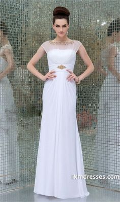 http://www.ikmdresses.com/2014-Beaded-Scoop-Neckline-Pleated-Bodice-A-Line-With-Long-Chiffon-Skirt-p84763