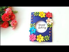 Mother's day card making handmade / Easy and beautiful card for mother's day / Birthday cards Happy Birthday Cards Handmade, Cute Birthday Cards, Handmade Greetings, Birthday Greeting Cards, Greeting Cards Handmade, Birthday Images, Birthday Quotes, Birthday Greetings, Birthday Wishes