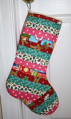 #patchwork #handmade #Christmas #stocking