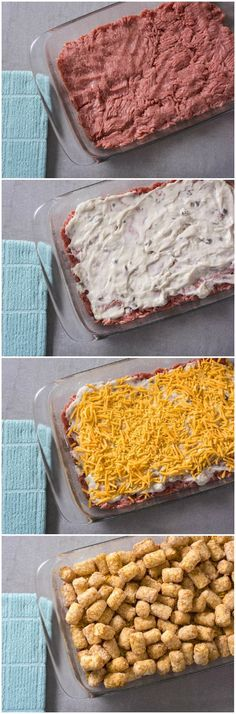 This easy tater tot casserole recipe will become a favorite family dinner. It only has four ingredients - ANYONE can make it! via @diy_candy