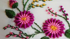 Hand Embroidery: Ribbed Spiderweb Stitch