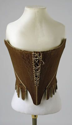 Object Name  Corset  Date  ca. 1780