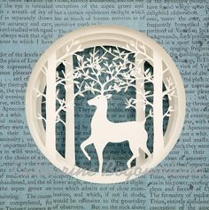 The spring forest Original papercut by Catherine por mgcpaper, $75.00