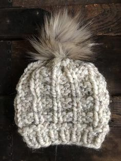 6b69b8cc378 People also love these ideas. Purple knit hat Women s knitted hat Winter  cable ...