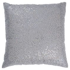 Sequined cotton pillow.  Product: PillowConstruction Material: Cotton cover and siliconized polyester fiber fill...