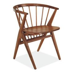 Room & Board - Soren Chair with Wood Seat - Modern Dining Chairs - Modern Dining Room & Kitchen Furniture Dining Room Table Decor, Modern Dining Chairs, Dining Room Sets, Dining Room Design, Living Room Chairs, Dining Area, Room Decor, Modern Seat Cushions, Office Chair Cushion