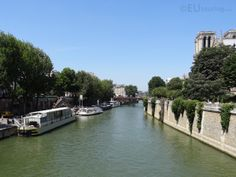 In this photo you can see the Ile de la Cite island which sits in the middle of the river Seine to the right with a view leading down the river.  See more www.eutouring.com