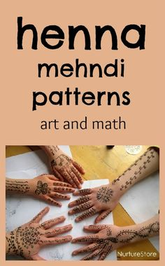 Henna math games :: making mehndi patterns ~:: Nurture Store ::~ We've been learning about weddings this month, looking at different traditions in Crafts For Teens, Arts And Crafts, Zentangle, Henna Art, Henna Mehndi, Mehendi, Motif Oriental, Diy Inspiration, Mehndi Patterns