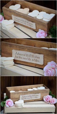Rustic Wedding Advice Box - Rustic Guest Book - Guest Notes Box - Advice for the Bride and Groom - Wedding Wishing Well - Wedding Guest Book - Hochzeiten - Wedding Advice Box, Wedding Day Wishes, Advice For Bride, Wedding Planning, Wedding Ideas, Wedding Pics, Wedding Gifts For Bride And Groom, Best Wedding Gifts, Bride Gifts