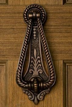 Casa Hardware Twist Brass Door Knocker - Antique Brass: Casa Hardware Twist Brass Door Knocker in 3 Finishes/b br br Material: /bBrass br br Centers: br br Width: br br Height: br br Depth: br br Mounting Hardware Included: Yes Old Door Knobs, Brass Door Knocker, Door Knobs And Knockers, Door Handles, Door Pulls, Door Knockers Unique, Unique Doors, Ornaments Design, Door Accessories