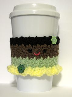Princess Tiana Crochet Coffee Cup Cozy by TheEnchantedLadybug