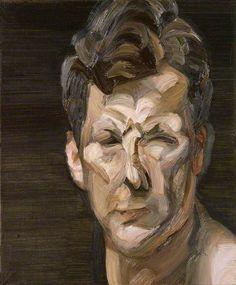 Man's Head (Self Portrait III) 1963 by Lucian Freud Collection: National Portrait Gallery, London