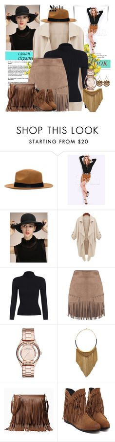 """SHEIN CONTEST: CAMEL SLIM SKIRT"" by mediteran ❤ liked on Polyvore featuring Marc by Marc Jacobs, Fiona Paxton and DENY Designs"