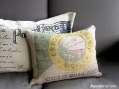 I've created a number of these to go with my other creations. I love burlap. I've covered my dining room chairs in it & utilized it to hand a valance over the kitchen window. My mother & brother have created a bracket over my bay window & covered with burlap that appears as a store window advertisement. The seating below is covered in contrasting burlap. BEAUTIFUL! ~ Trish