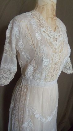 Heirloom Victorian Edwardian Tea Dress | eBay
