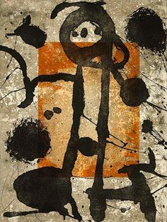 Joan Miro - Rupestres III (D.1037), 1979 etching with aquatint 30 1/8 x 22 1/4 inches