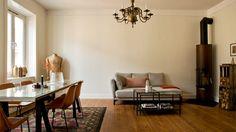 Authenticité et décoration automnale dans un bel appartement de Stockholm
