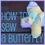 Kids Craft: Sew a Butterfly