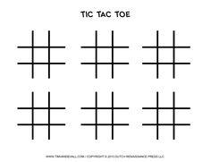 Tic Tac Toe Game Printables