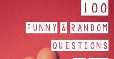 100 Funny & Random Questions to Ask Your Husband {date night conversation starters}