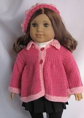 Ravelry: Spring Flared Sweater for American Girl Dolls pattern by Janet Longaphie - Free Pattern
