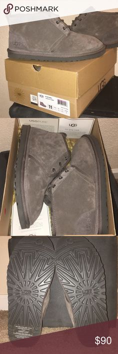 Men's UGG Neumel boots Size 11 Charcoal gray  *Brand new* *Never worn* UGG Shoes