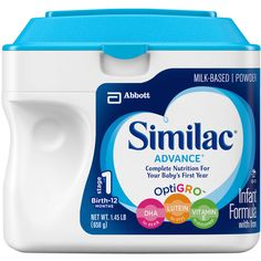 Similac Advance Infant Formula with Iron Powder, Stage 1, 1.45lb container, (Pack of 6) for Sale