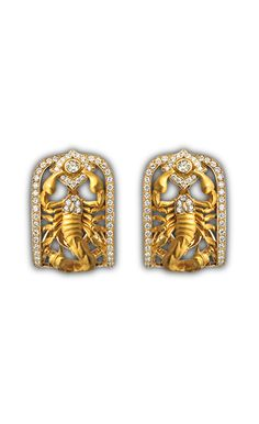 Earrings scorpion AR 1780.1     Yellow Gold 18KT and pavé diamond #Magerit #ScorpionCollection #jewels