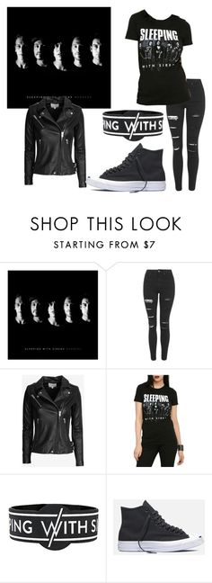 """Madness/SWS"" by actual-sinnamonrol ❤ liked on Polyvore featuring Topshop, IRO and Converse"