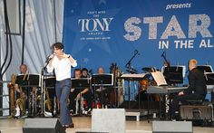 Darren Criss at United presents 'Stars in the Alley' in Shubert Alley on May 27, 2015 in New York City.