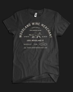 Woodland Wine Merchant brand identity, by Perky Bros