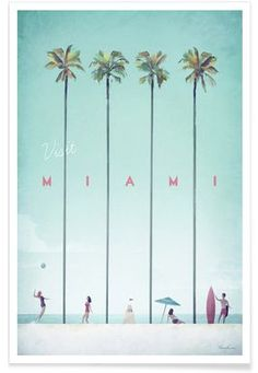 Miami - Henry Rivers - Premium Poster